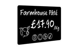 Edikio - Sample price tags for Butcher shop testimonial