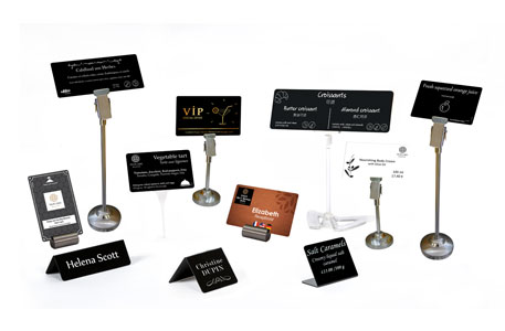 A wide of accessories to hold cards