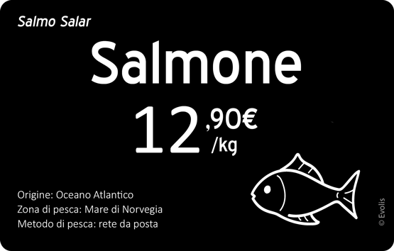 Edikio - Sample price tags for Fishmongers